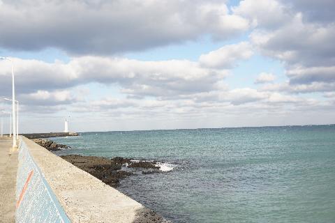 #구름과 바다의 멋진 조합