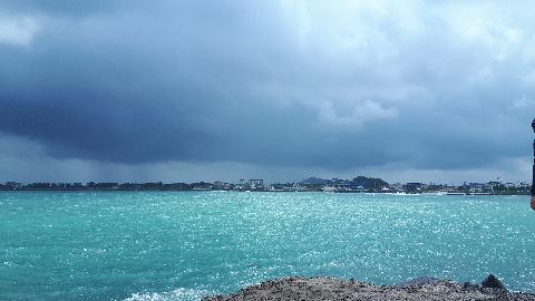 #여름#세화해변 폭염속에 갑자기 먹구름 몰려온다