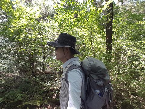 비자림의 신비로운 기운은 언제나 본다 이 가을에는 내 셀카사진에서도 역역히 나타난다