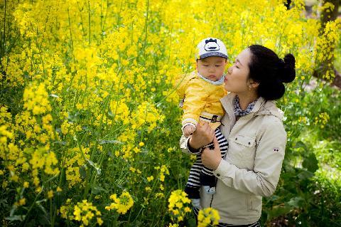 아이와 함께한 봄날의 공원~
