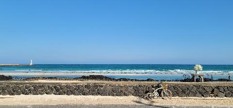 제주도는 여러번 갔지만, 세화해변은 처음 갔어요. 도착해서 바다를 보는데 바다 색도 이쁘고, 너무 좋드라구요. 자전거나 걸어서 해안도로를 따라 가기도 너무 좋게 되어 있습니다. 그런데 해안가가 너무..쓰레기가 많더라구요. 스티로폼이며, 그물이며, 온갖 ..그냥 버린 것 같은 .. 이것들이 정말 잘 조성해놓은 해안도로의 풍경을 망칩니다. 사진에도 나와서 안타까울 정도로요.  관광객도, 또 거기에 사시는 분들도 해변을 아름답게 할 수 있도록, 사진에 이렇게 쓰레기가 보이지 않도록 ..노력하길 바래봅니다.